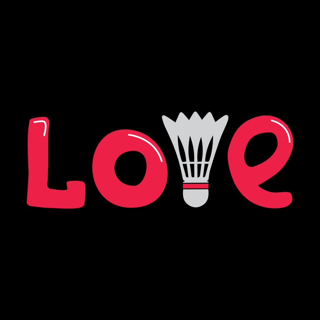 D0fdc47b Love Badminton Black