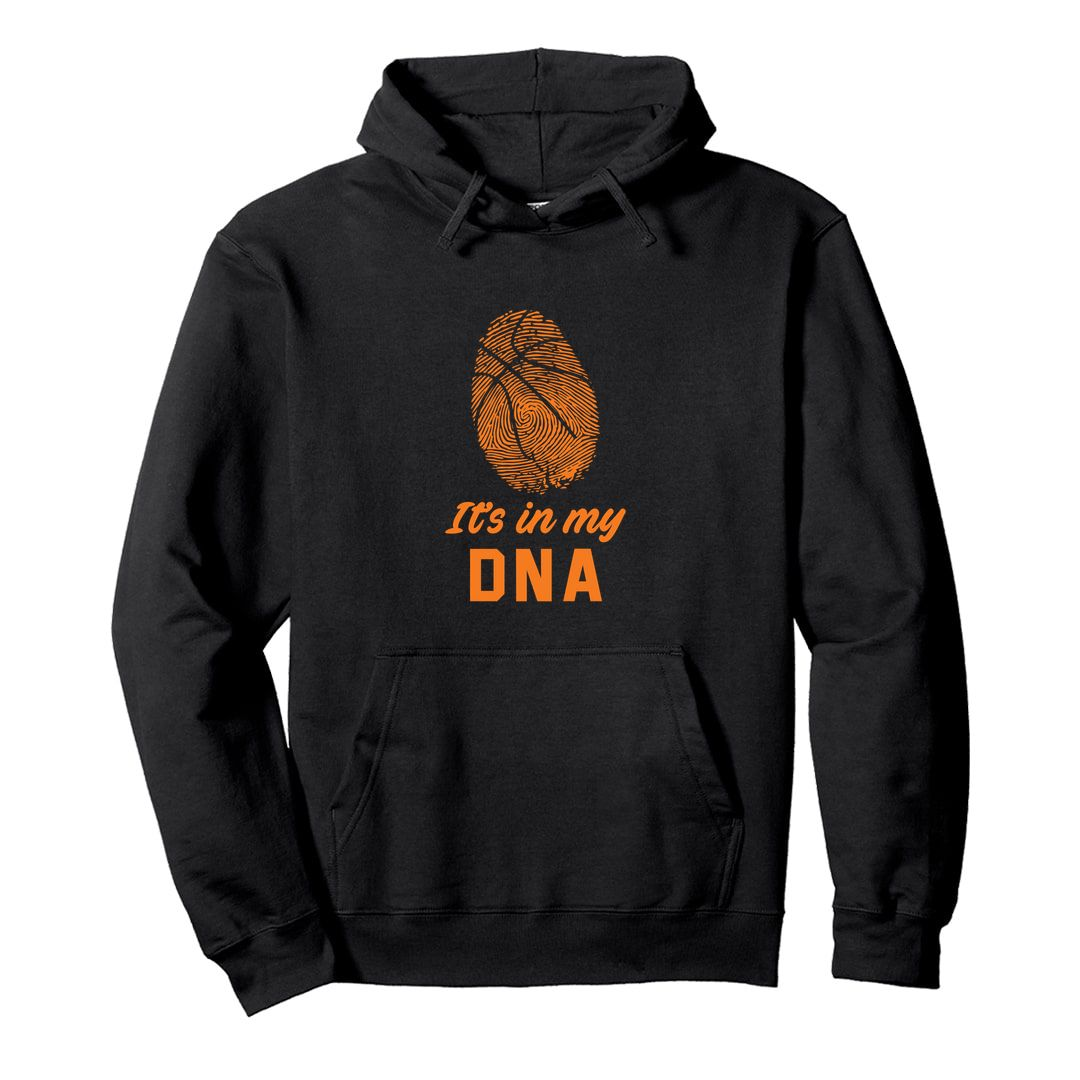D80671ab Basketball Its In My Dna Unisex Hooded Sweatshirt Hoodie Black Front