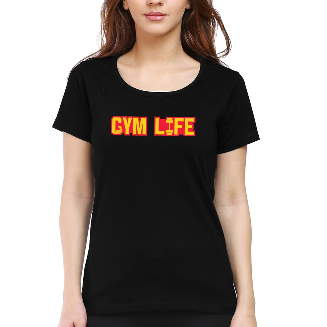 Db9250f3 Gym Life Women T Shirt Black Front