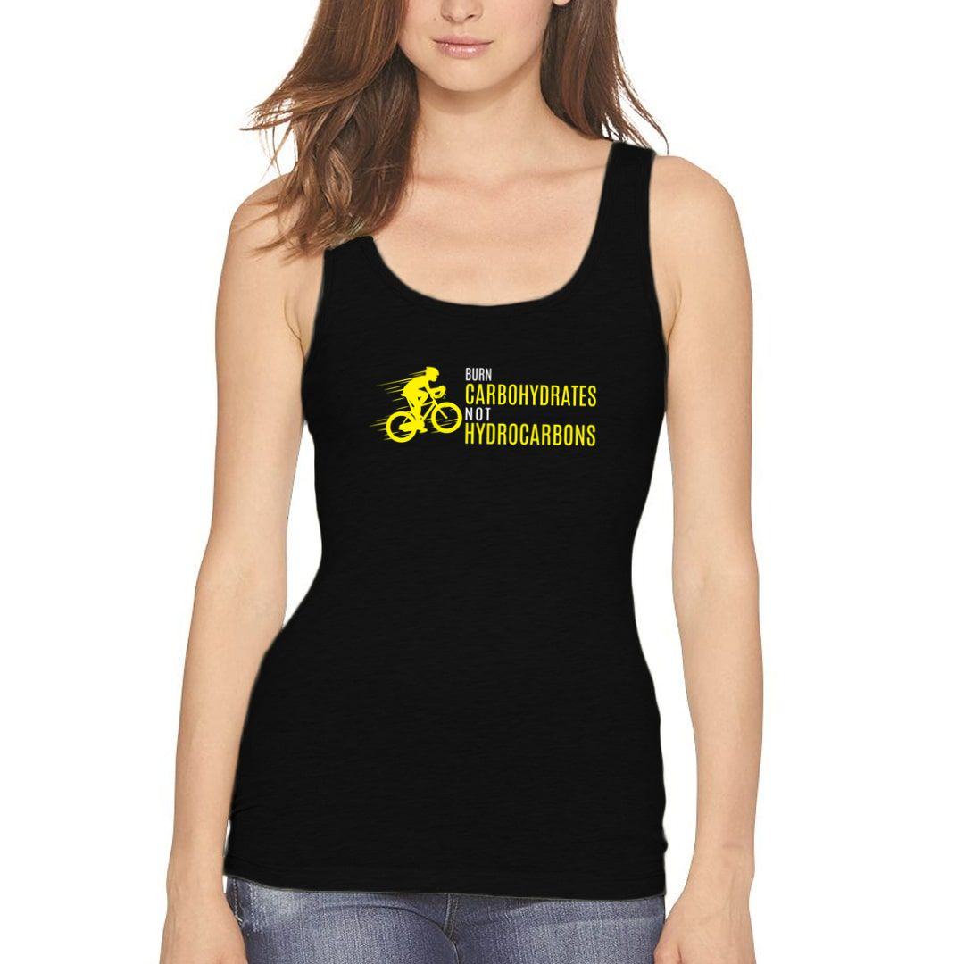 E756619f Burn Carbohydrates Not Hydrocarbons Women Tank Top Black Front