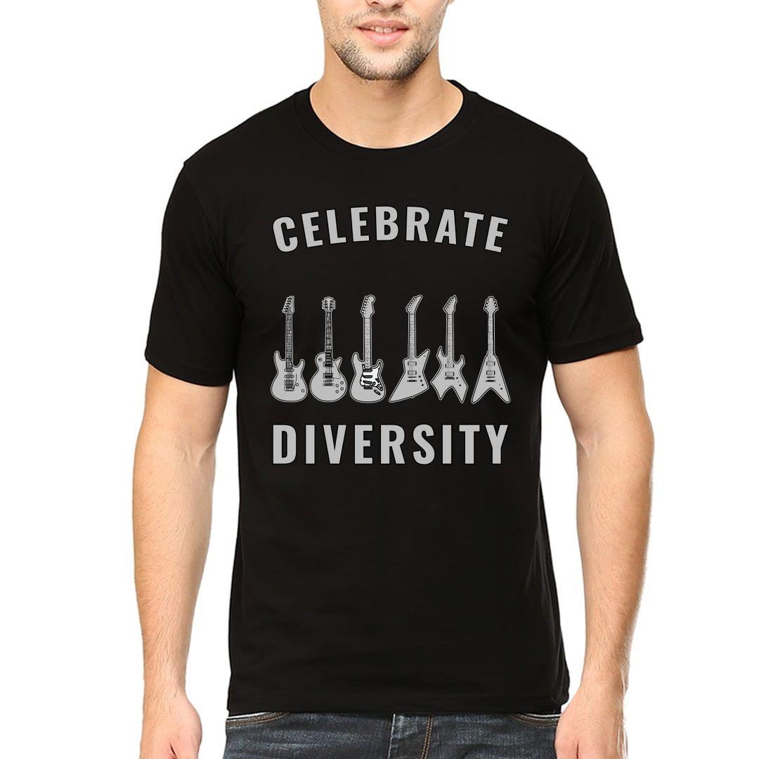 Ed632297 Celebrate Diversity Men T Shirt Black Front
