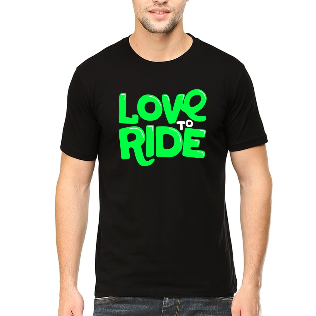 Fcec6478 Love To Ride Cool Casual Cycling Men T Shirt Black Front