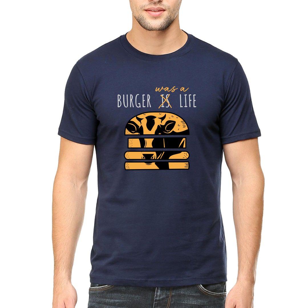 2076ae66 Burger Is Life No – Burger Was A Life Men T Shirt Navy Front