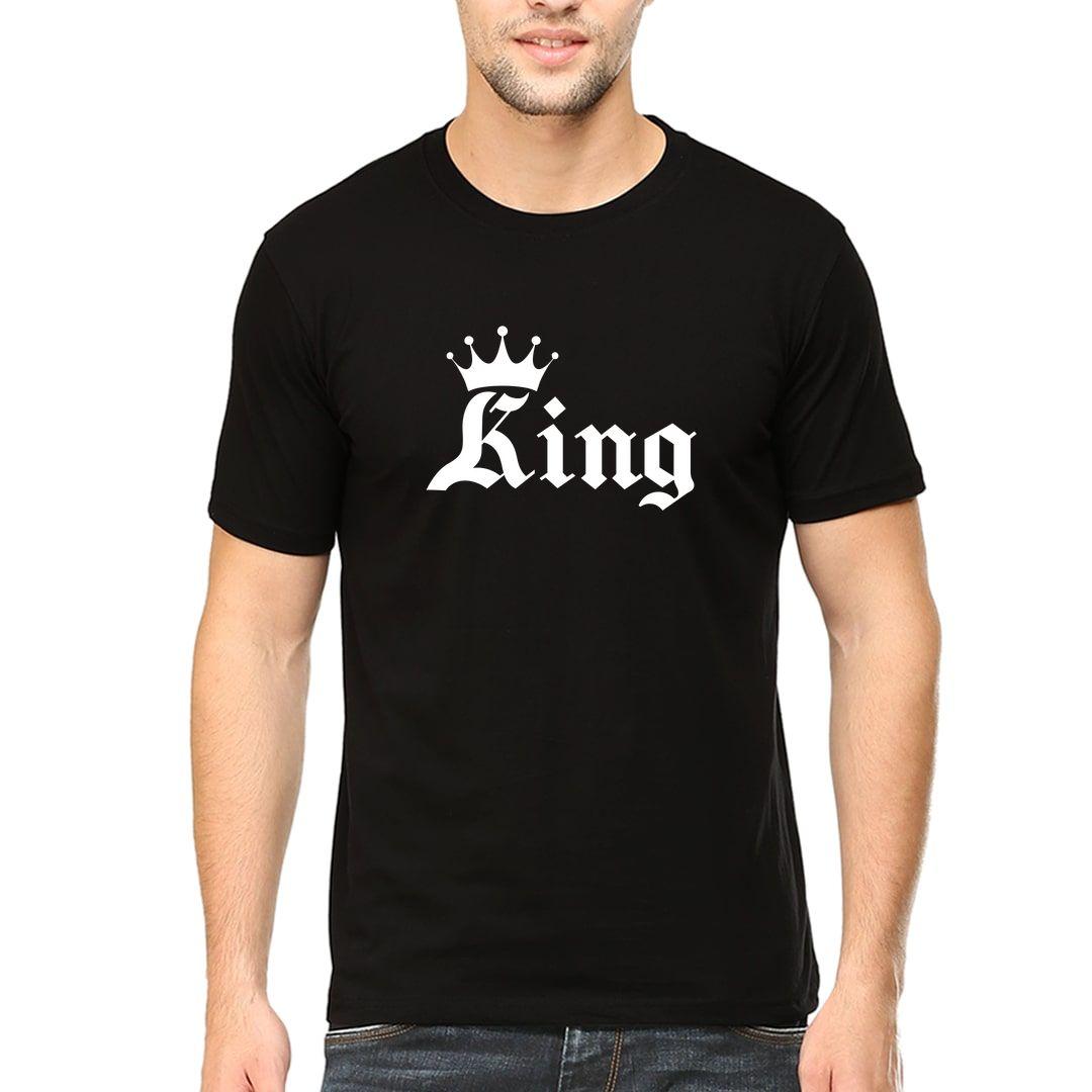 3fa9c536 King White Men T Shirt Black Front