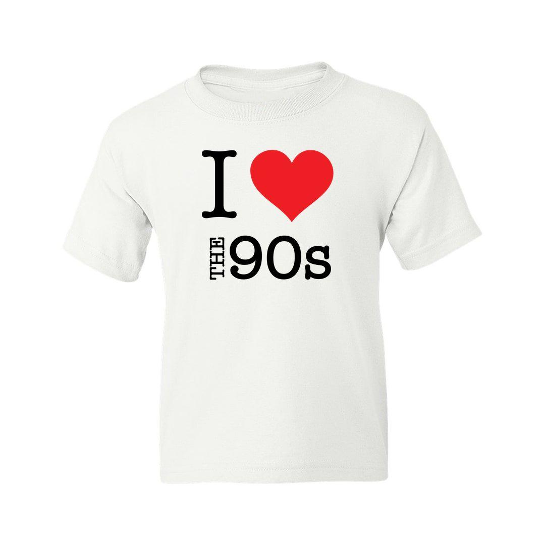 3ffffd79 I Love The 90s Kids T Shirt White Front