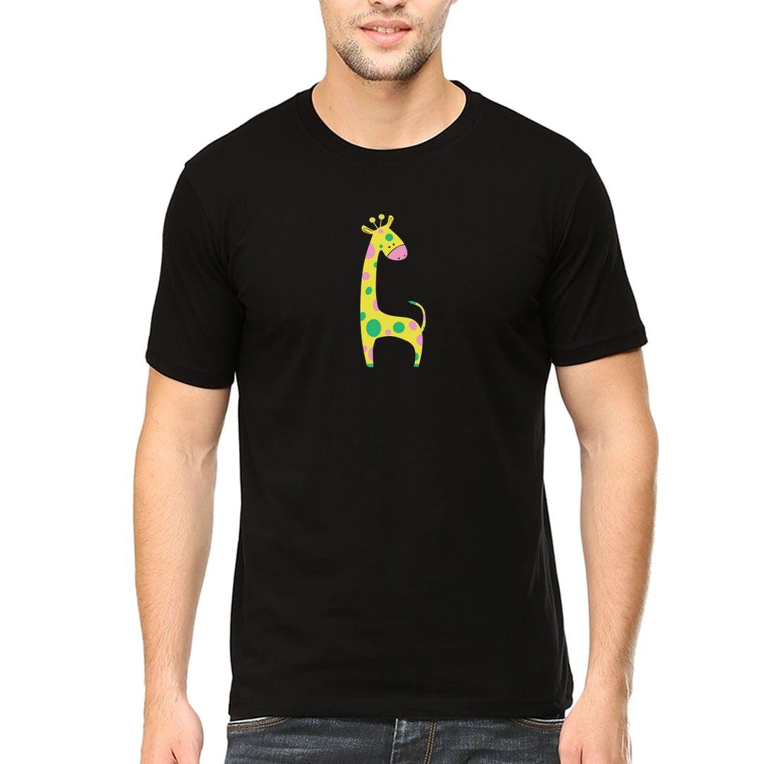 5b0cc7a9 Cute Giraffe Men T Shirt Black Front