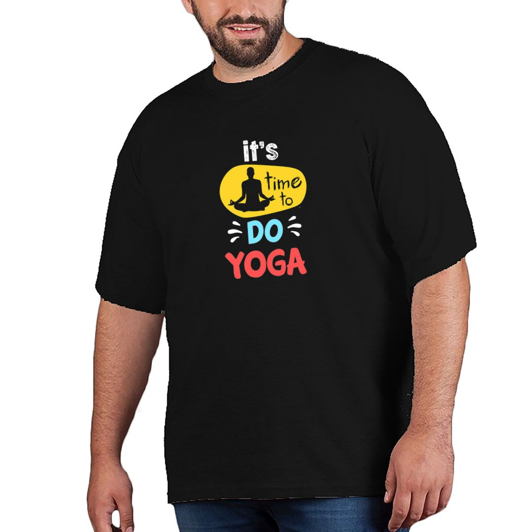 6a1199a1 Time To Do Yoga For Indian Yoga Classes Plus Size T Shirt Black Front