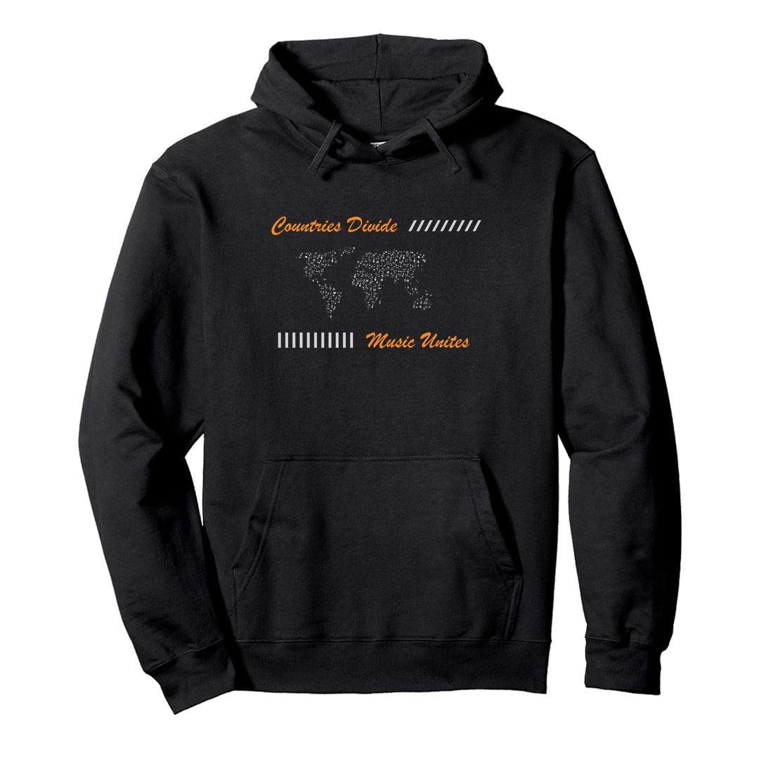 A5eacfc3 Countries Divide Music Unites World Music Lover Unisex Hooded Sweatshirt Hoodie Black Front