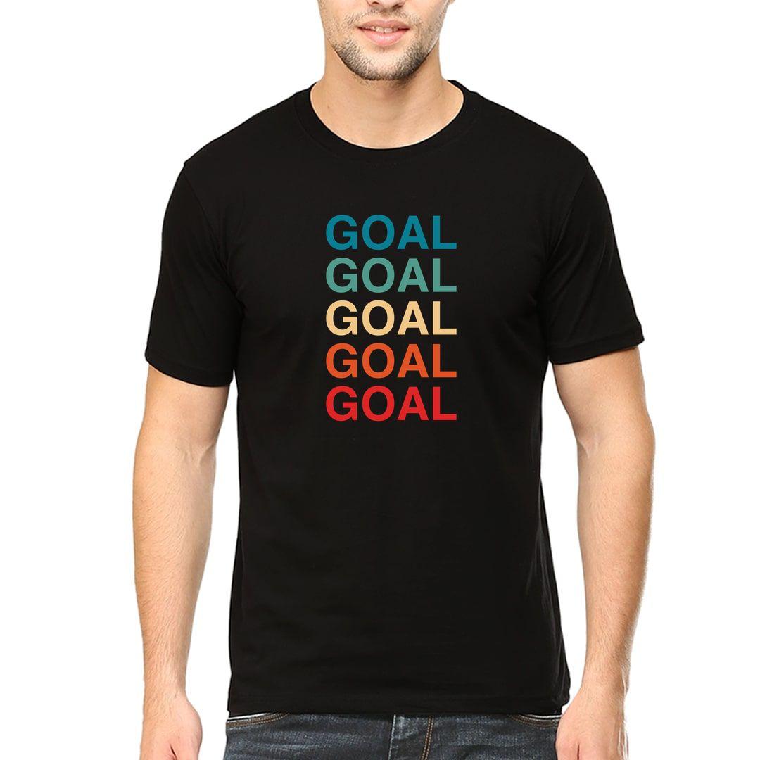 B0fa8936 Goal Goal Goal Goal Vintage Colours Football Men T Shirt Black Front