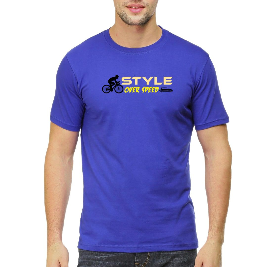 Dff9c5b1 Style Over Speed Men T Shirt Royal Blue Front