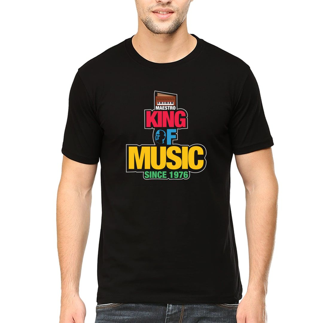 E0aa9761 Maestro King Of Music Since 1976 Men T Shirt Black Front