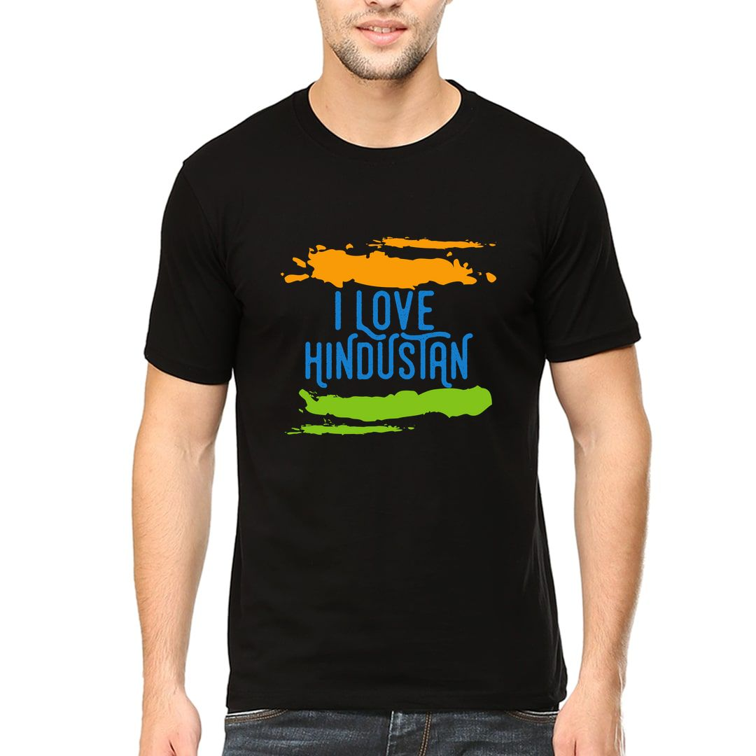 333aad70 I Love Hindustan Men T Shirt Black Front
