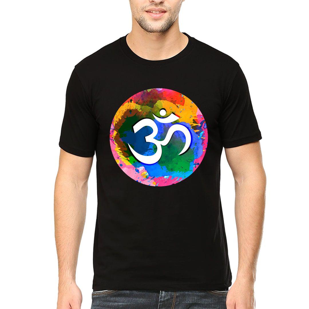 5c2b5c65 Om Shanti Symbol Men T Shirt Black Front