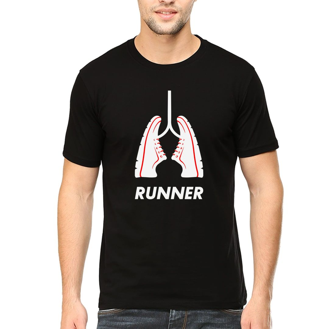 B35fd46c Runner Lungs Creative Design For Fit Athletes Men T Shirt Black Front