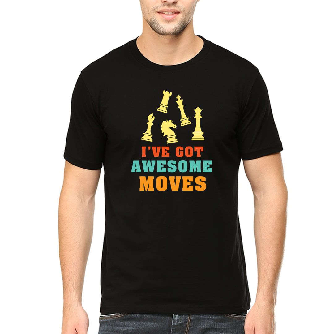 B9a1d18f Ive Got Awesome Moves Men T Shirt Black Front