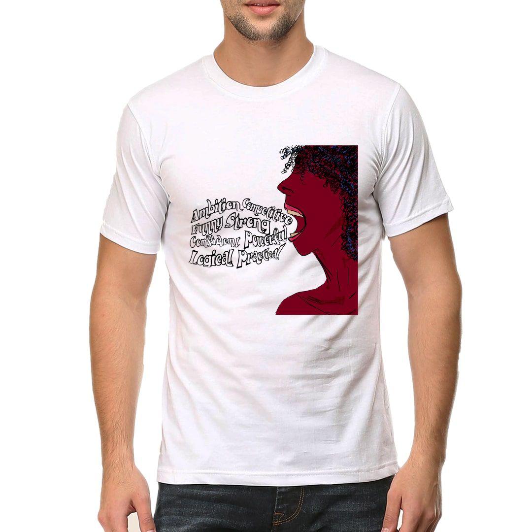 Cba57f0e Hear Me Roar Men T Shirt White Front