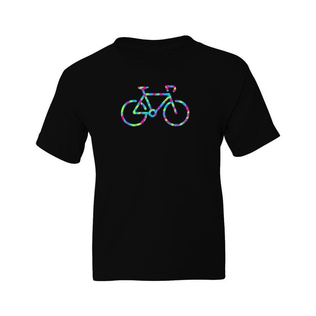 Ddcf2278 Cycle Colourful Design For Cyclists And Bike Enthusiasts Kids T Shirt Black Front