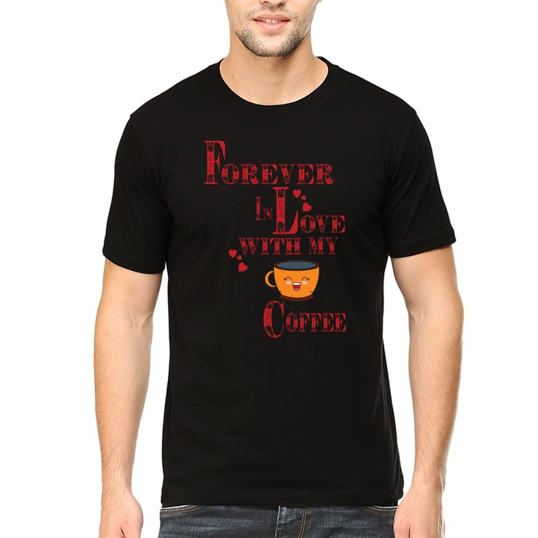 Ebd30610 Forever In Love With Coffee Men T Shirt Black Front