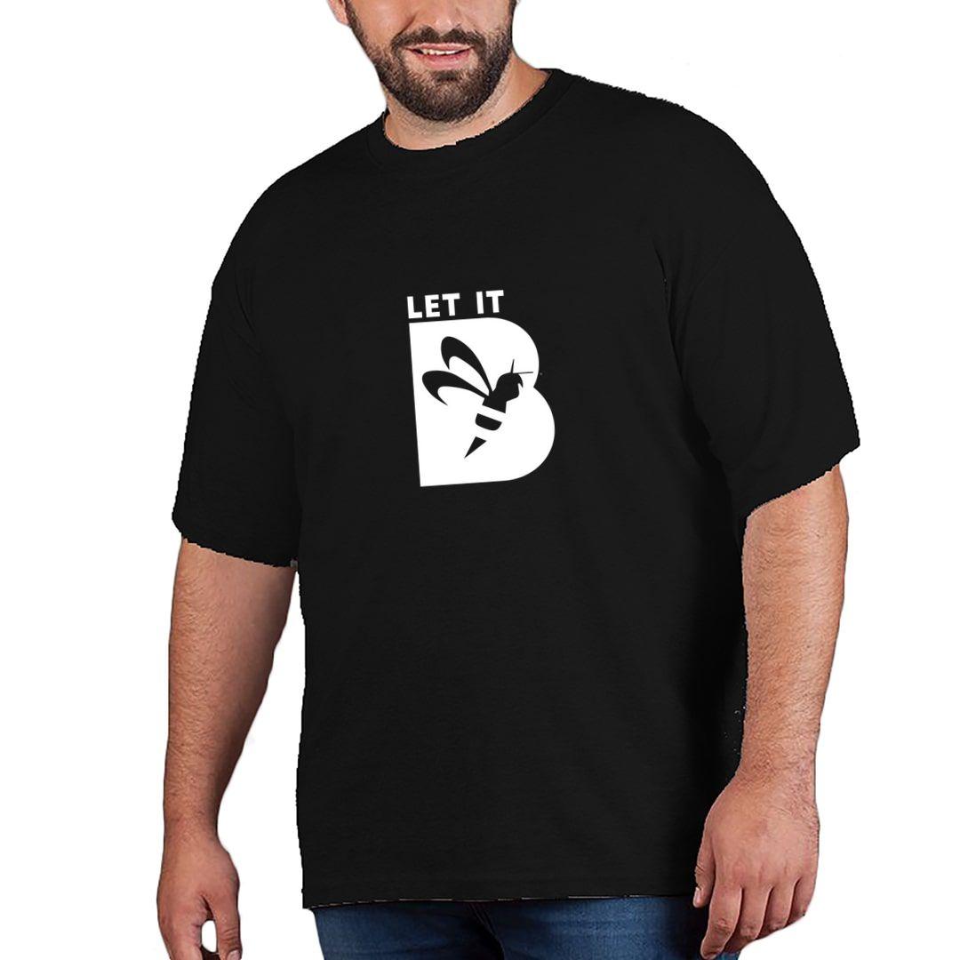16918767 Let It Bee Let It Be Plus Size T Shirt Black Front