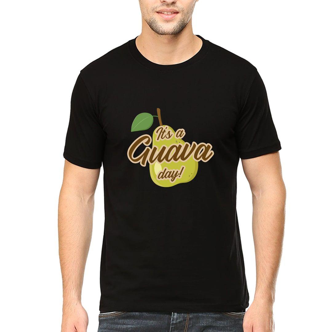 240ee812 Juicy Guava Men T Shirt Black Front