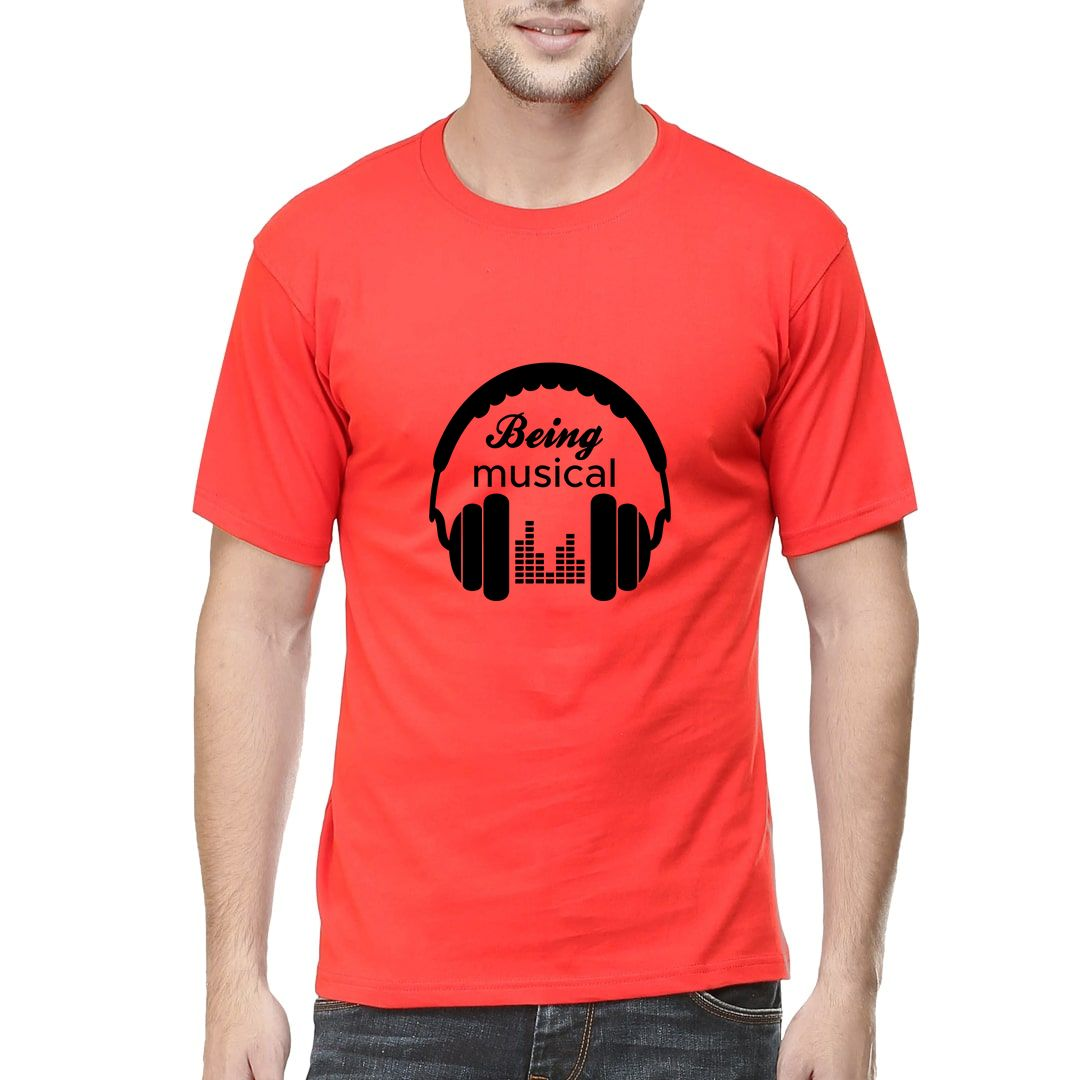 30156860 Being Musical Men T Shirt Red Front