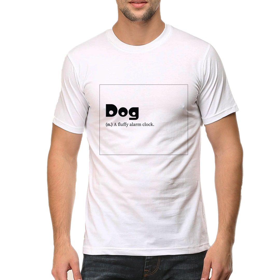 34a826a9 Dogie Men T Shirt White Front