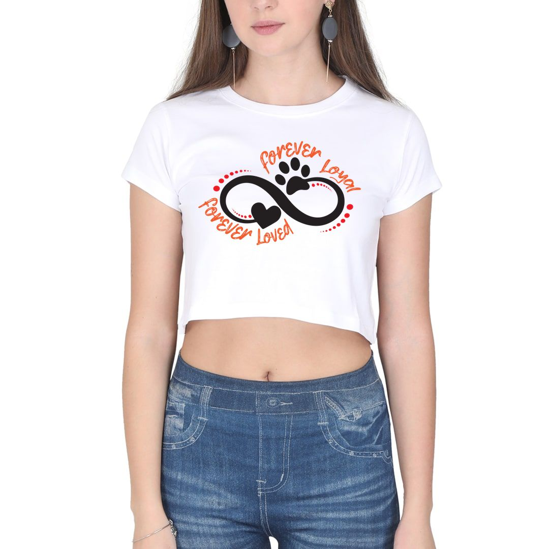 3f8e95a7 Forever Loyal Forever Loved Women Crop Top White Front