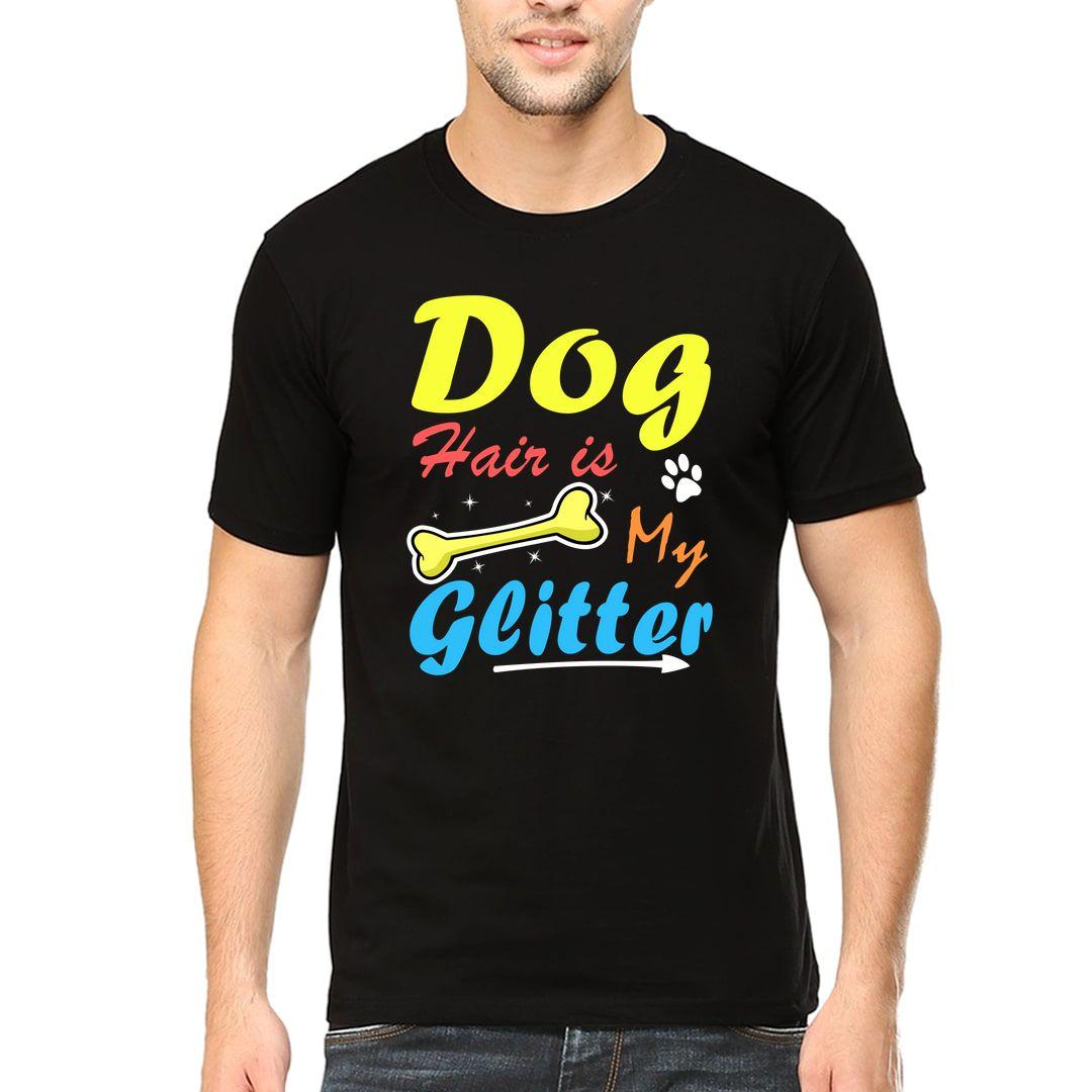 435fd397 Dog Hair Is My Glitter Men T Shirt Black Front