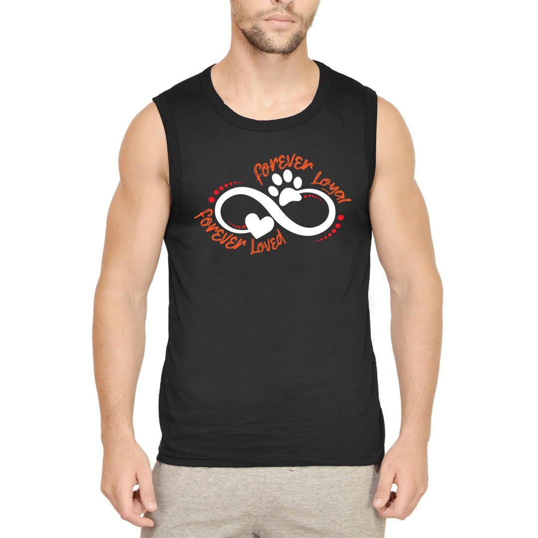 58f9b494 Forever Loyal Forever Loved Men Sleeveless T Shirt Vest Black Front