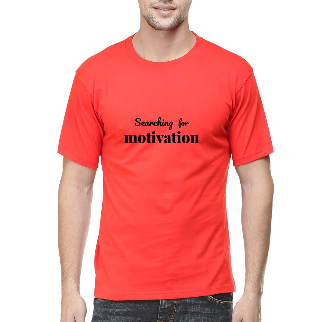 5a8b3a0b Searching For Motivation Men T Shirt Red Front