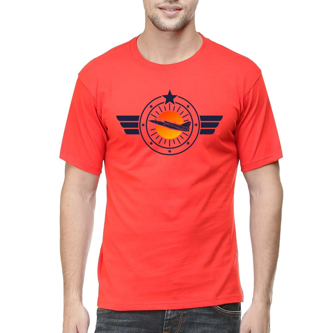 8d0e076b Mark One Fighter Jet For Air Force Tejas Enthusiasts Men T Shirt Red Front