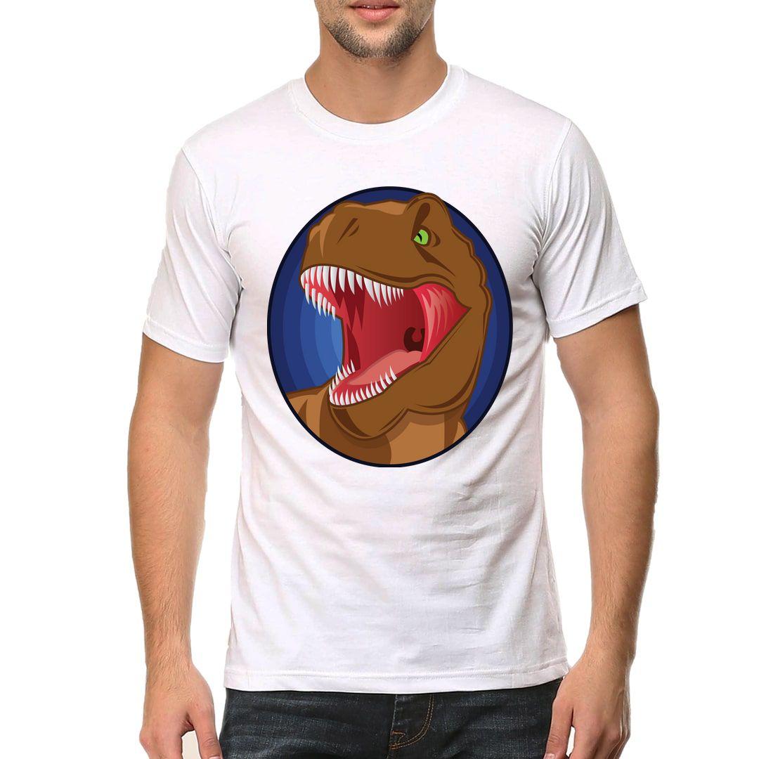 Adc5338d Dino Love Men T Shirt White Front
