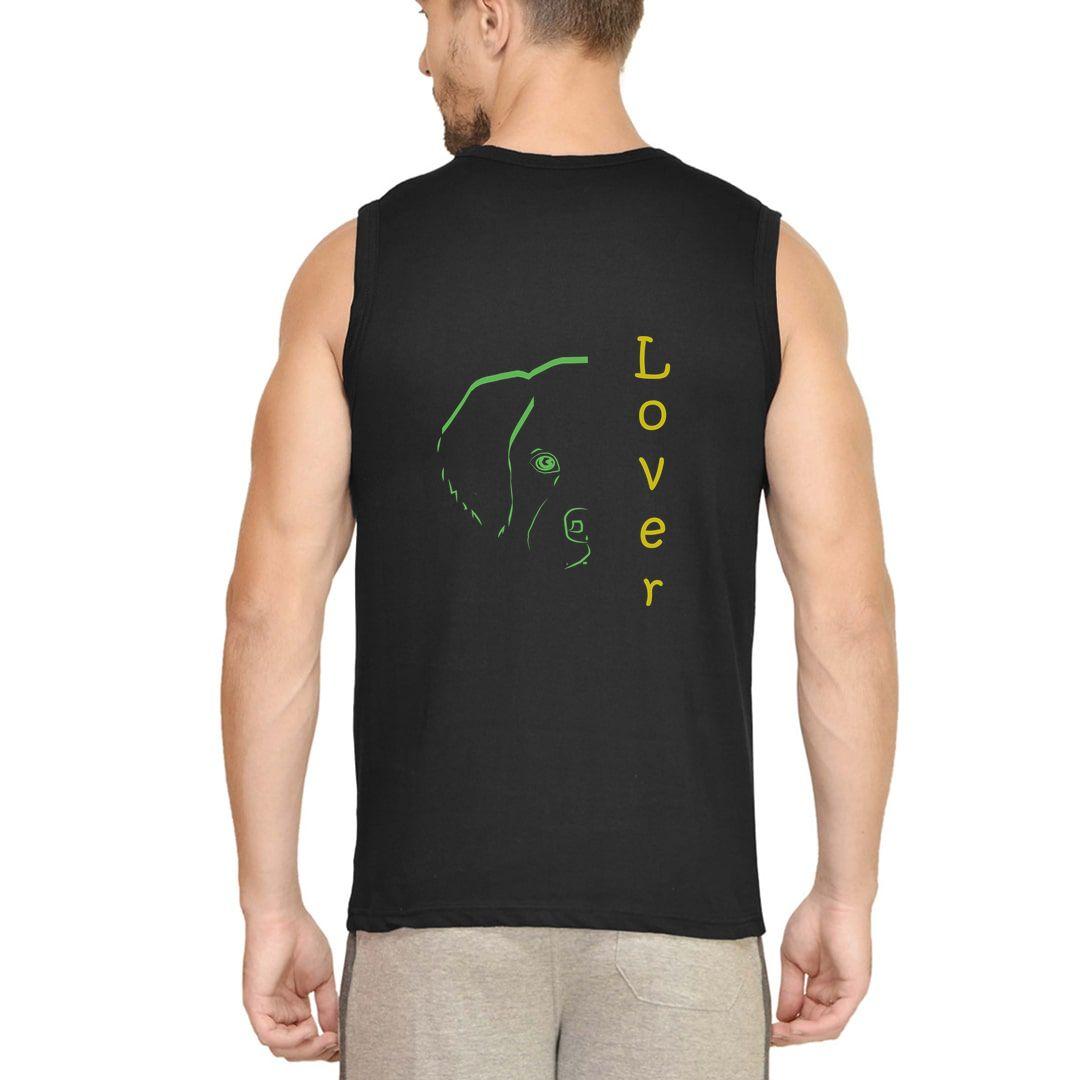 Bfec494e Dog Lovers Men Sleeveless T Shirt Vest Black Back