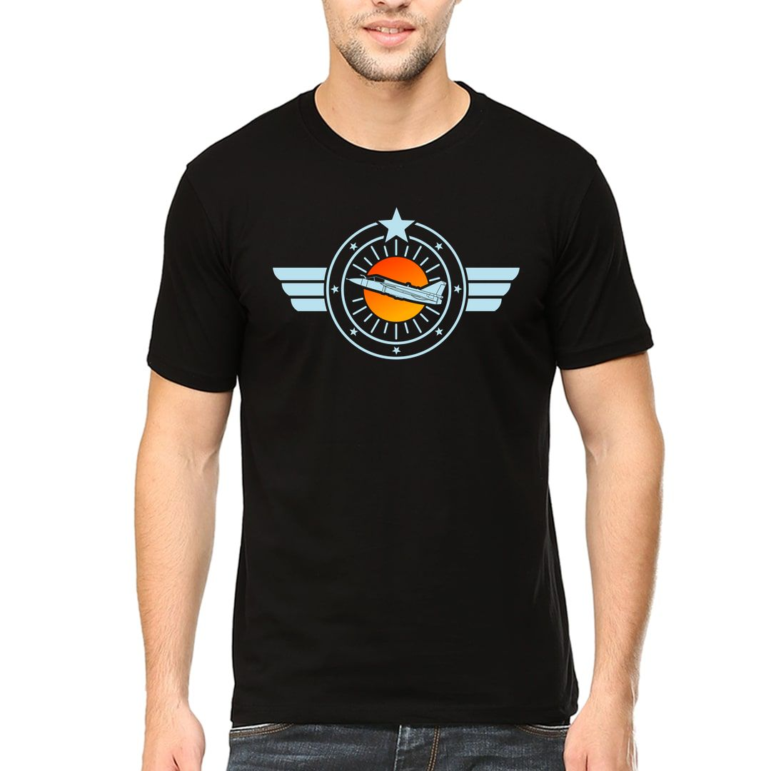 D0a6f2d4 Mark One Fighter Jet For Air Force Tejas Enthusiasts Men T Shirt Black Front