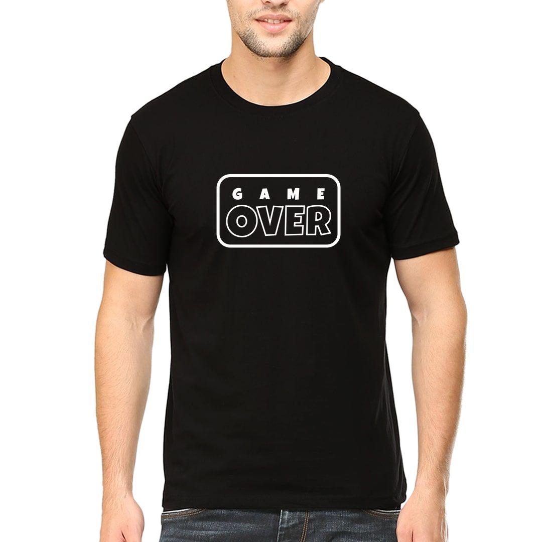 27732405 Game Over Men T Shirt Black Front