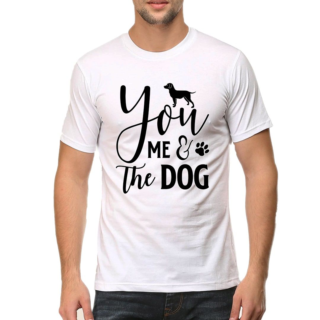 7a57c8c3 You Me And The Dog Men T Shirt White Front