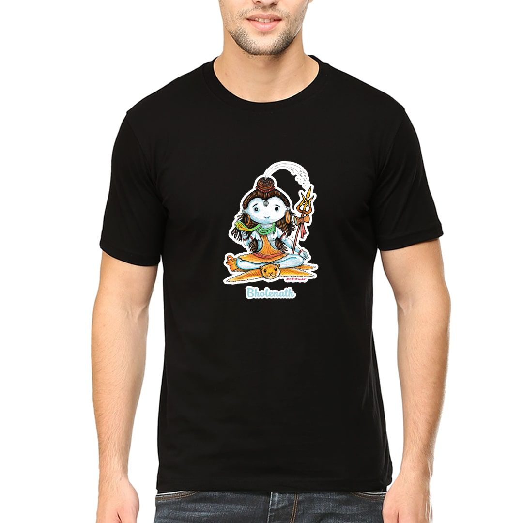 B9e14784 Bholenath Men T Shirt Black Front
