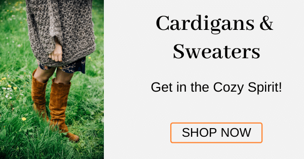 Cardigans & Sweaters Get in the Cozy Spirit! [Shop Now]