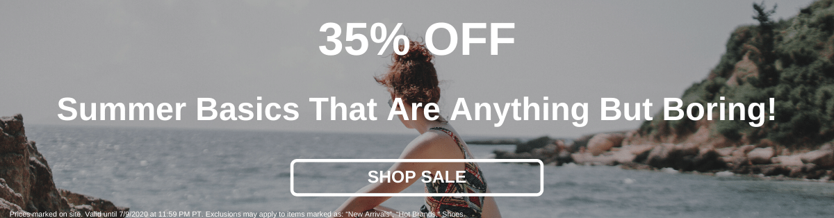 35% Off Summer Basics That Are Anything But Boring! [Shop Sale]