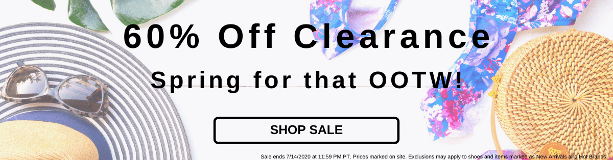 60% Off Clearance Spring for that OOTW! [Shop Sale]