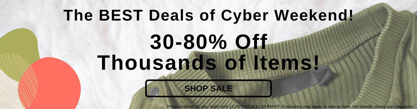 The BEST Deals of Cyber Weekend! 30-80% Off Thousands of Items! [Shop Sale]