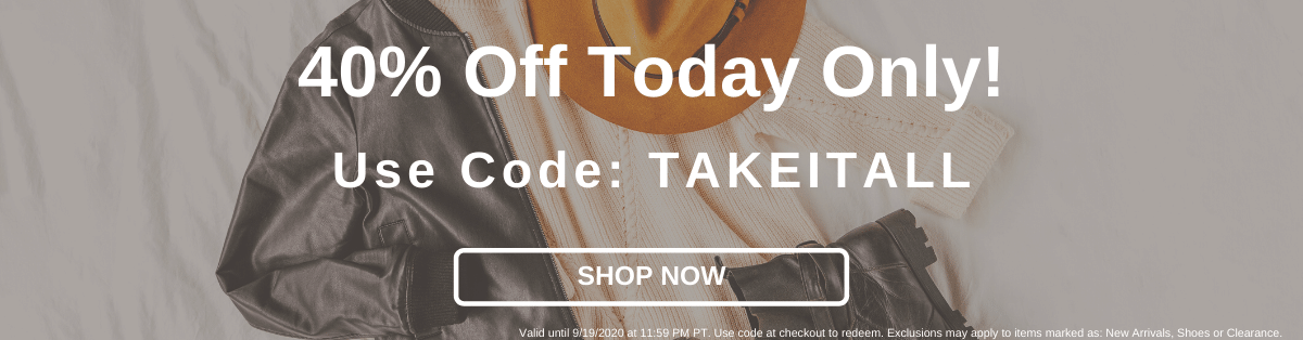 40% Off Today Only! Use Code TAKEITALL [Shop Now]