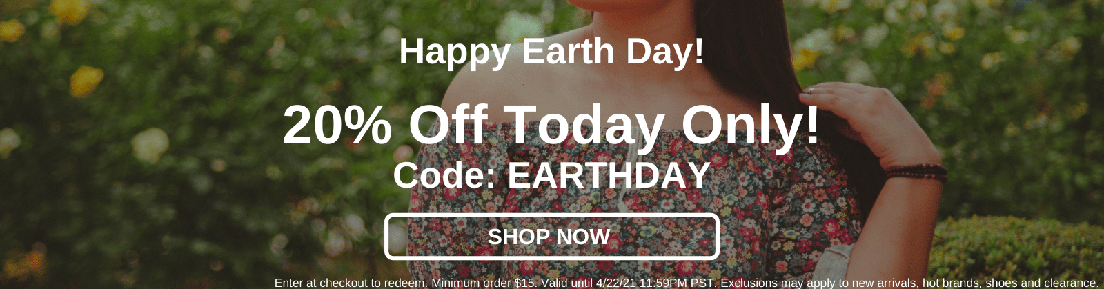 Happy Earth Day! 20% Off Today Only! Code: EARTHDAY [Shop Now]