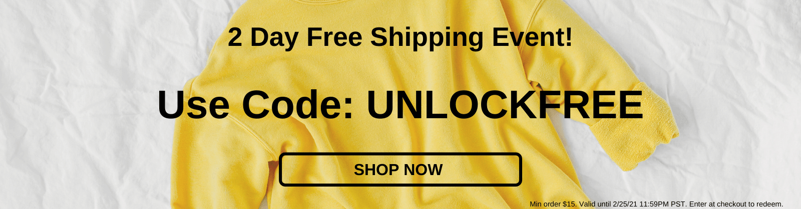 2 Day Free Shipping Event! Use Code UNLOCKFREE [Shop Sale]