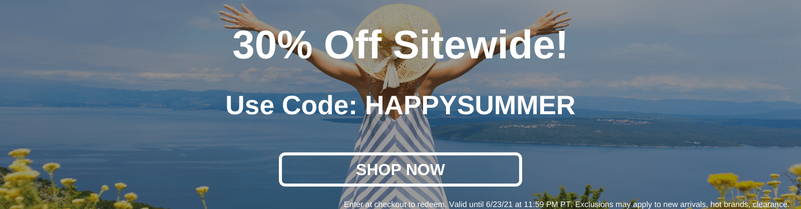 30% off site wide! Use code: HAPPYSUMMER [Shop Now]