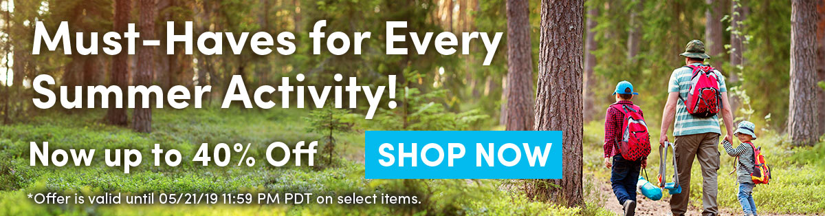 Must-Haves Every Summer Activity | Now up to 40% Off | SHOP NOW