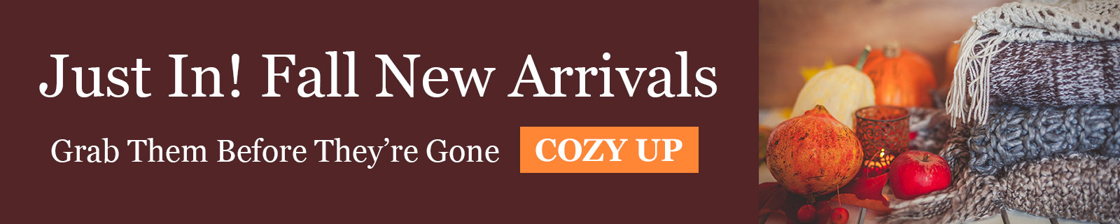 Just In! Fall New Arrivals - Grab Them Before They're Gone - COZY UP