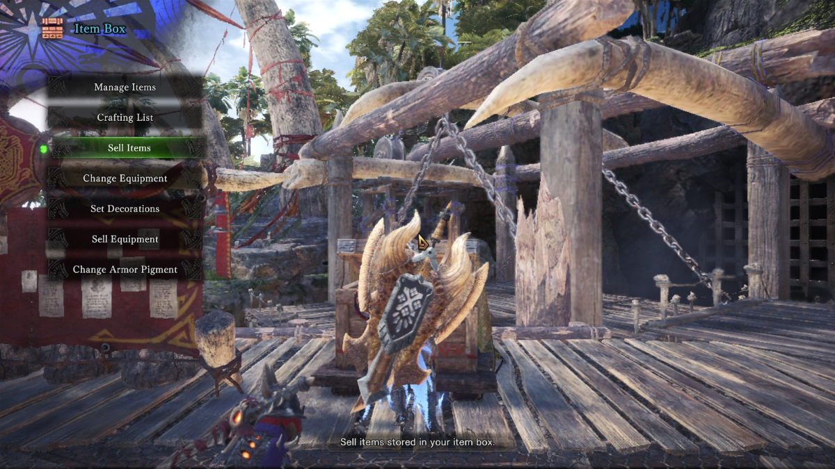 mhw how to trade materials