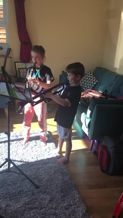 Aoibheann and Fionn's Musical talent