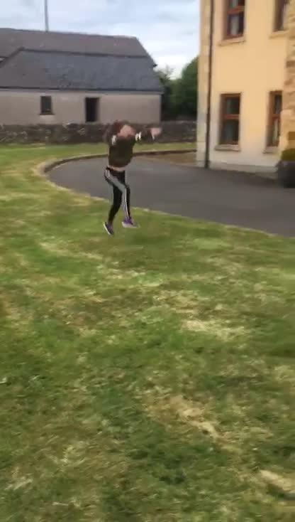 Abbie's gymnastic talents